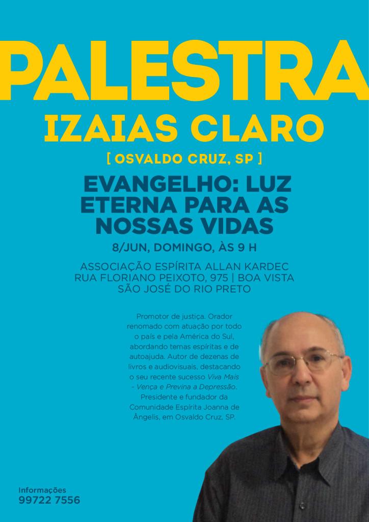 Palestra Izaias Claro em Rio Preto - Kardec