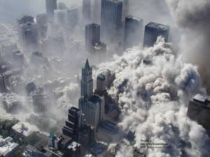 ** ADDS INFORMATION REGARDING SOURCING OF IMAGE ** This photo taken Sept. 11, 2001 by the New York City Police Department and obtained by ABC News, which claims to have obtained it under the Freedom of Information Act, shows smoke and ash engulfing the area around the World Trade Center in New York. (AP Photo/NYPD via ABC News, Det. Greg Semendinger) MANDATORY CREDIT